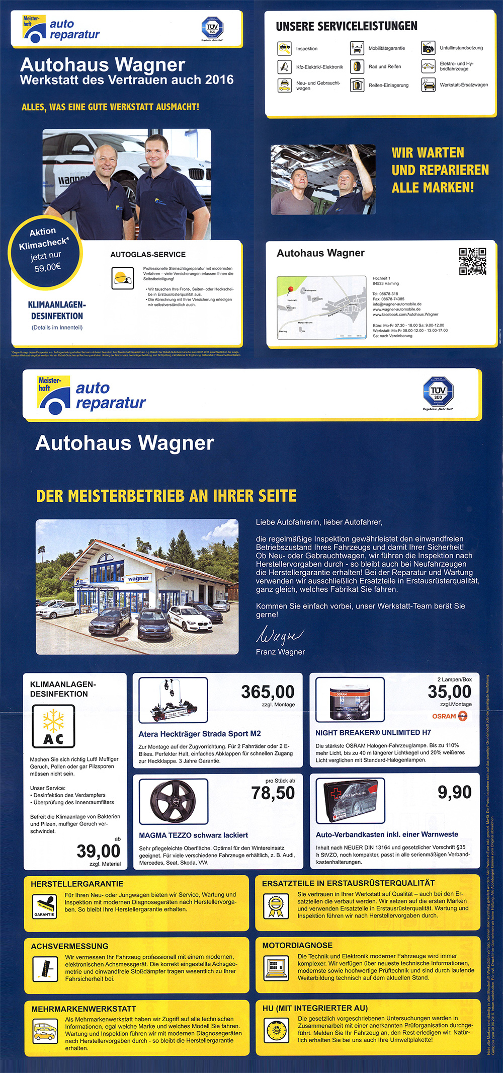 autohaus wagner wagner automobile. Black Bedroom Furniture Sets. Home Design Ideas